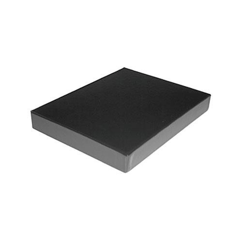 "Print File Clamshell Leather Storage Box (13.25 x 19.25 x 1-3/8"") (Black)"