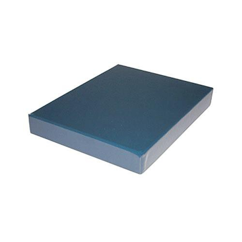"Print File Clamshell Leather Storage Box (17.25 x 22.25 x 1-3/8"") (Blue)"