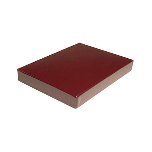 "Print File Clamshell Leather Storage Box (8.75 x 11.25 x 1-3/8"" ) (Burgundy)"