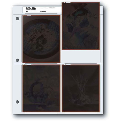 """Print File Archival Storage Page for Negatives, 4x5"""" - 25 Pack"""