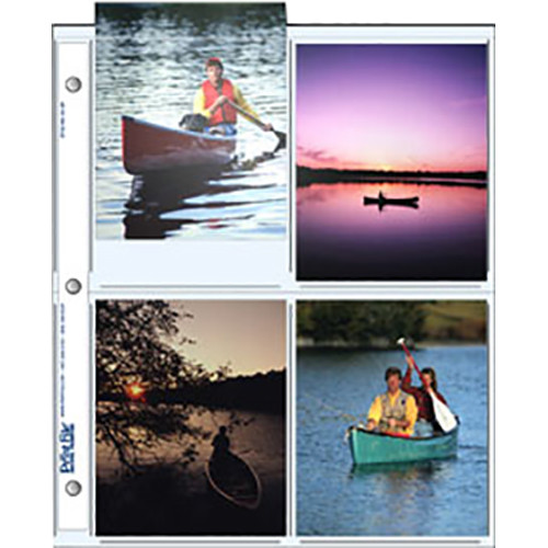 "Print File 45-8P Archival Storage Page for 4x5"" Prints (500-Pack)"