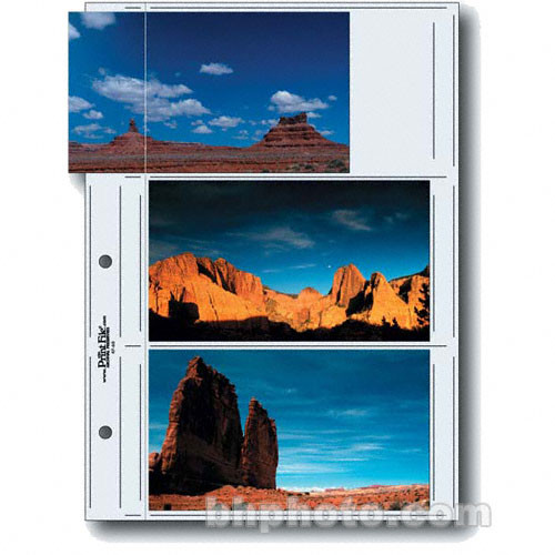 """Print File Premium Series-G Archival Storage Page for Prints - 4x7"""" APS - Holds 6 Prints - 25 Pack"""