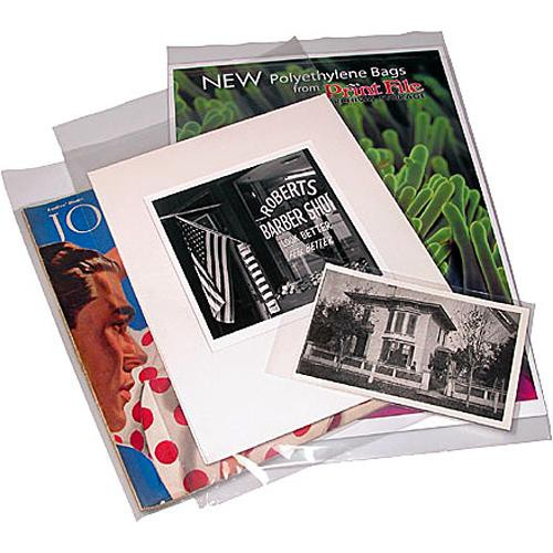 "Print File Polyethylene Bag with 2"" Flap (9 x 12"", 100 Pack)"