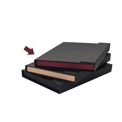 Print File Magna Folio 9x12 (Black with Maroon Tray)