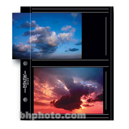"Print File Premium Series-C Archival Album Page with Black Background - 3.5 x 5"" - 12 Pages"