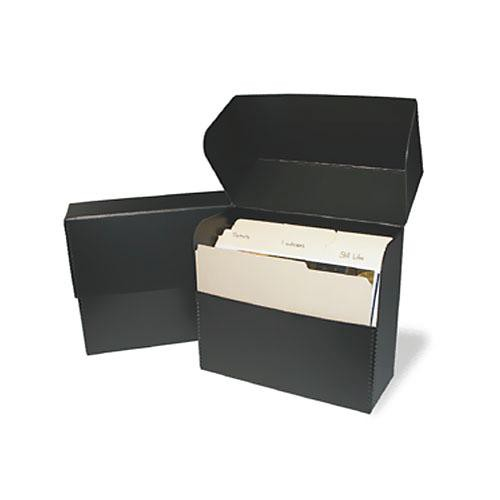 "Print File DBLETTER Metal Edge Letter Size Document Storage Box (12.25 x 10.25 x 5"") (Black)"