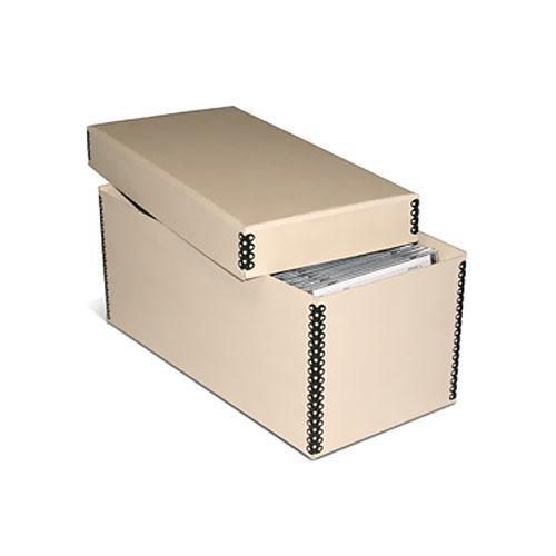 Print File MECD55TAN Tan Metal Edge CD/DVD Storage Box