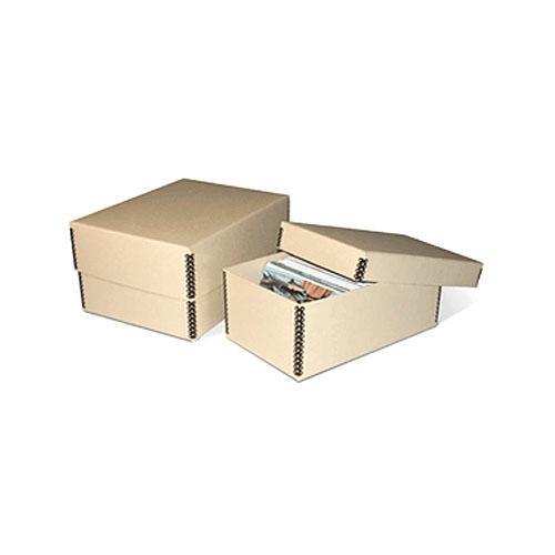 """Print File MEPH46TAN Metal Edge Storage Box (4-1/8 x 6.25 x 10.5"""") (Tan)"""