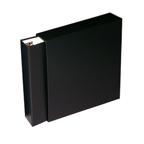 "Print File 1.5"" D-Ring Oversized Album with Slipcase (12.5 x 12.1 x 2.25"", Black)"