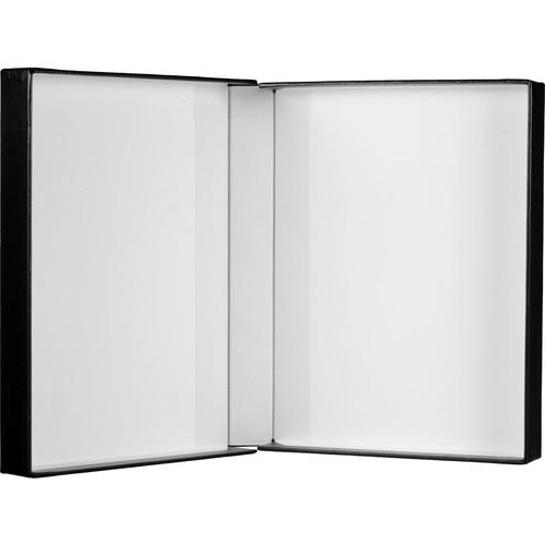 "Print File Black Clamshell Archival Portfolio Box with White Lining - 8.75 x 11.25 x 2"""