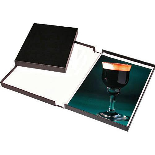 Print File Black Archival Portfolio Box with White Lining - 9.25 x 12.25 x 2""