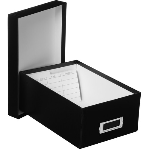 "Print File Archival Photo Box - 7.5 x 4.5 x 11.25"" - Black"