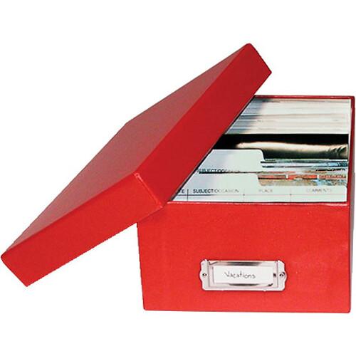 Print File Archival Photo Box (Red)