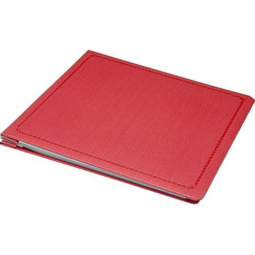 "Print File Archival Post Bound Scrapbook - 12 x 12"" - Burgundy Linen"
