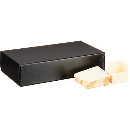 "Print File 2x2"" - 500 Slide Storage Box - Black Linen Finish"