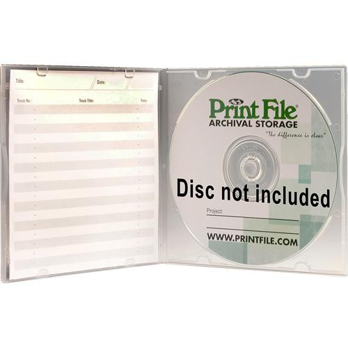 Print File SLPOLY Clear Slimline CD/DVD Case (Pack of 10)