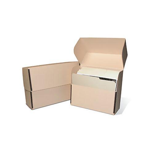 """Print File TDBLEGAL Metal Edge Legal Size Document Storage Box (15.25 x 10.25 x 5"""") (Tan)"""