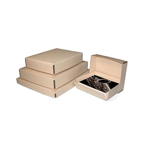 "Print File Drop-Front Metal Edge Archival Storage Box (Tan, 9 x 11.5 x 3"")"
