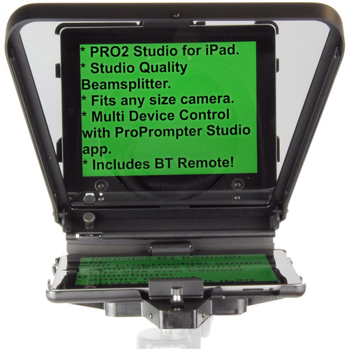 ProPrompter HDi Pro2 Teleprompter with Universal Mount for iPad, iPad Air, iPad mini, Smartphones and Most Android Tablets