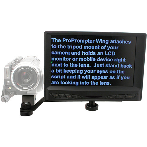 "ProPrompter PP-WING-LCD7KIT-PG ProPrompter Wing 7"" LCD Kit with Software and ProPrompter Grip"