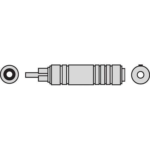 Pro Co Sound 336APC Female Phone to Male RCA Coupler