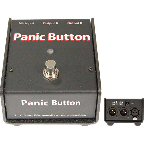 Pro Co Sound Panic Button - Live Sound A/B or Muting Switch
