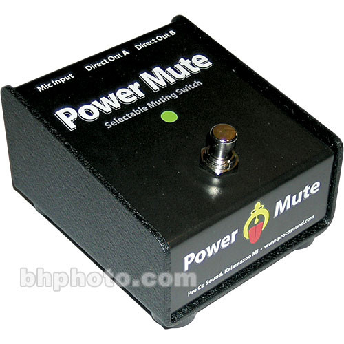 Pro Co Sound Power Mute - Active Muting Switch