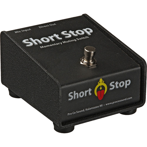 Pro Co Sound Short Stop - Cough Drop Series Passive Momentary Mute Switch