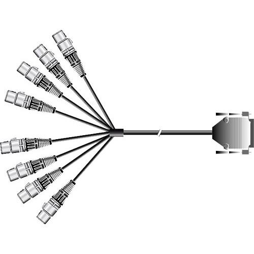Pro Co Sound Multi Track Recording Cable D-Sub DB25 to 8x XLR Female - 10'
