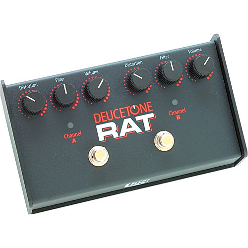 Pro Co Sound Deucetone RAT - Dual-Channel Analog Guitar Distortion Pedal