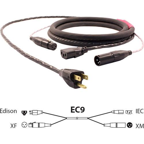 Pro Co Sound EC9 Siamese Twin AC (Edison to IEC) & Audio (XLR Female to XLR Male) Combo Cable- 25'