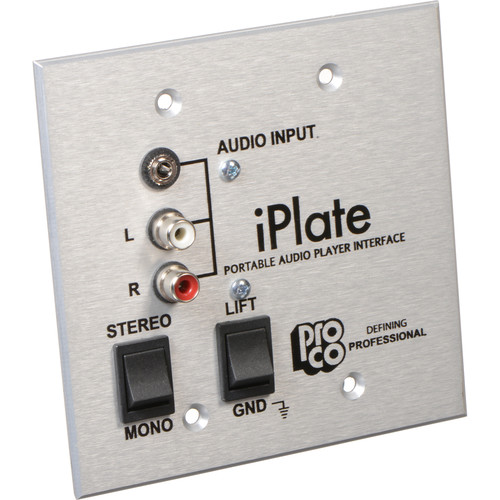 Pro Co Sound iPlate - Portable Audio Player Wall Plate Interface