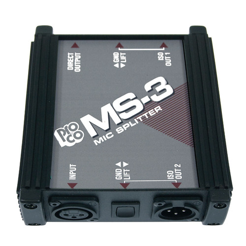 Pro Co Sound MS3 3-Way Microphone Splitter Box