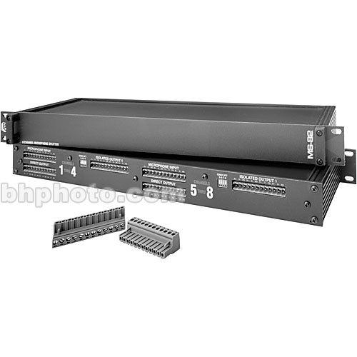 Pro Co Sound MS-82 - 8-Channel, 2-Way Microphone Splitter