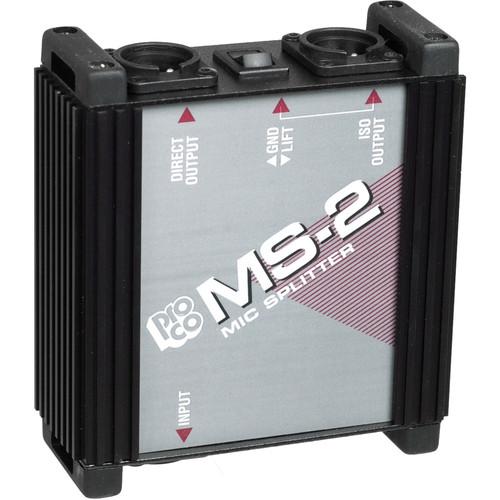 Pro Co Sound MS-2 1 into 2 Microphone Splitter Box