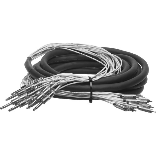 """Pro Co Sound Analog Harness Cable 16x 1/4"""" TS Phone Male to 16x RCA Male - 20'"""