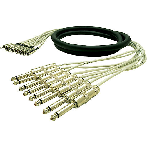 "Pro Co Sound Multitrack Cable 24x 1/4"" TRS Stereo Phone Male to 24x 1/4"" TRS Stereo Phone Male - 20'"