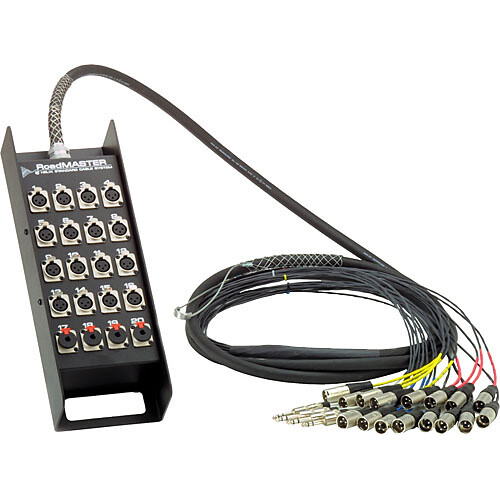 "Pro Co Sound RoadMaster Snake 8 Channel Stagebox to Fanout (6x Send + 2x 1/4"" TRS Stereo Phone Male Return) - 100'"