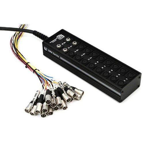 "Pro Co Sound StageMaster Snake 20 Channel Stagebox to Fanout (16x Send + 4x 1/4"" TRS Stereo Phone Male Return) (100')"
