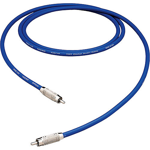 Pro Co Sound S/PDIF RCA Male to RCA Male Patch Cable - 1'