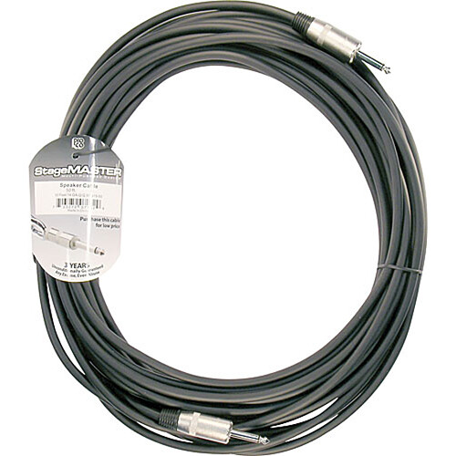 "Pro Co Sound StageMaster Z-Force 1/4"" Male Phone to 1/4"" Male Phone Speaker Cable (14 Gauge) - 50'"
