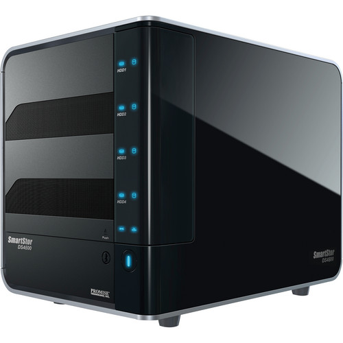 Promise Technology 4TB (4 x 1TB) SmartStor NS4600P RAID 4-Bay NAS Server (Black) Kit