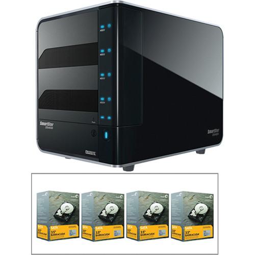 Promise Technology 4TB (4 x 1TB) SmartStor NS4600P RAID 4-Bay NAS Server (Black) Kit