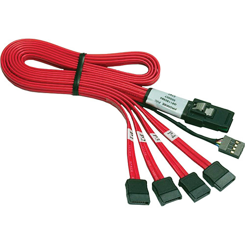Promise Technology Mini-SAS to SATA(x4) with Sideband Signals (0.5 m)