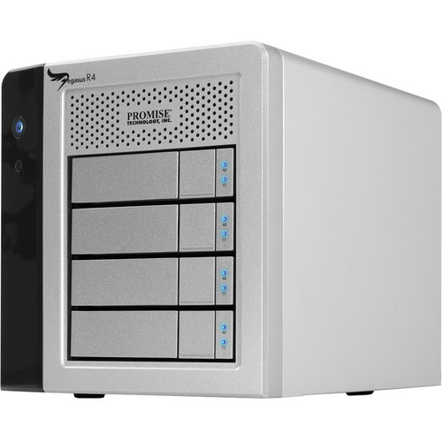 Promise Technology 4TB Pegasus R4 RAID Storage with Thunderbolt (4x 1TB)