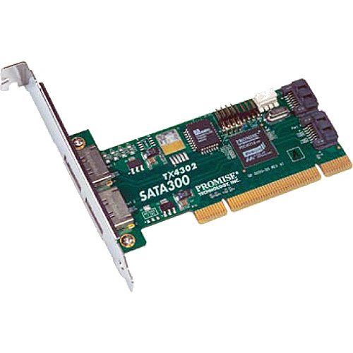 Promise Technology SATA300 TX4302 SATA 3G PCI Adapter (One Adapter)