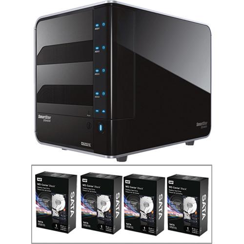 Promise Technology SmartStor DS4600 DAS Server & 4TB (4x1TB) HDD Kit