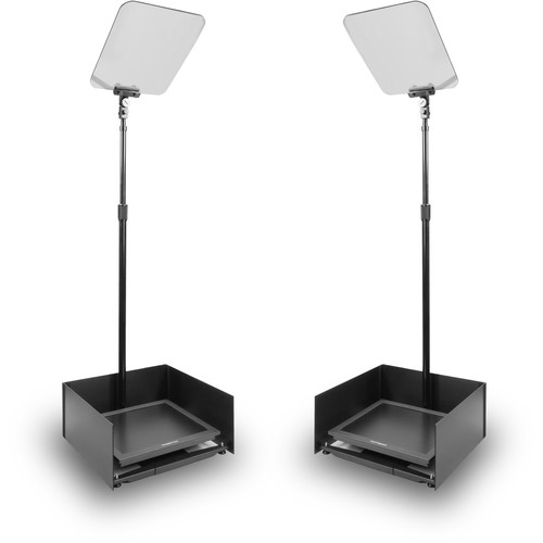 """Prompter People StagePro 17"""" High-Bright Presidential Teleprompter Pair"""