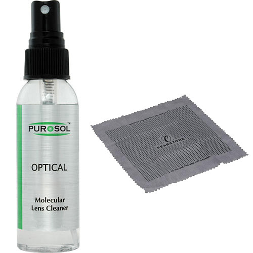 Purosol Optical Cleaner (1 oz) with Cleaning Cloth