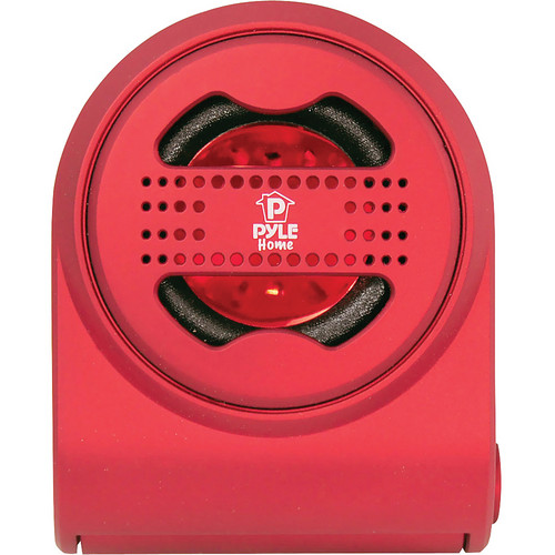 Pyle Pro Bass Expanding Chainable Rechargeable Mini Speaker (Red)